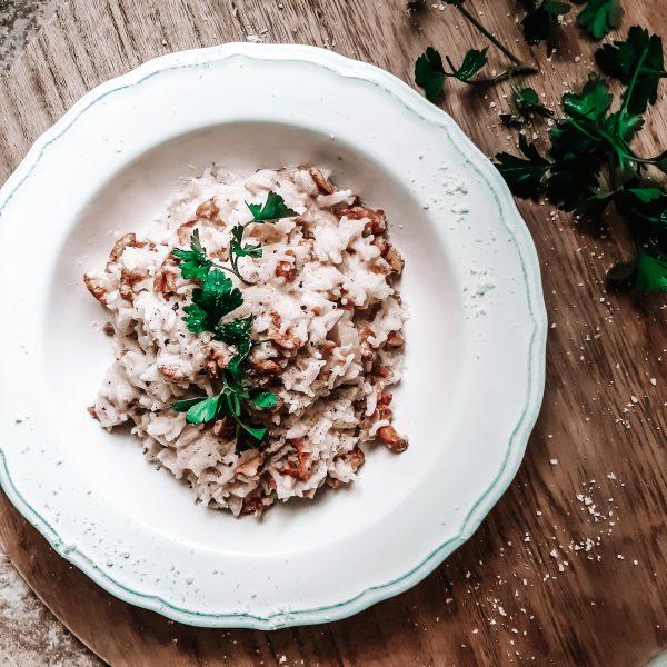 risotto z grzybami